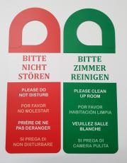 12 Türhänger  NICHT STÖREN / ZIMMER REINIGEN