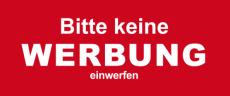Aufkleber KEINE WERBUNG 68 x 21 mm für Briefkasten