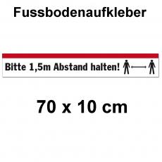 Fussbodenaufkleber Abstand halten 70 x 10 cm
