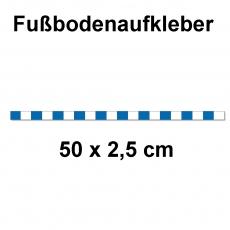 Fussbodenaufkleber Abstandstreifen  50 x 2,5 cm Blau