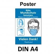 A4 Poster -  Mundschutz-Empfehlung