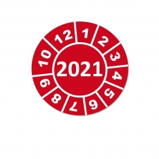 Jahresplaketten 2021 - 15 mm Rot Rund