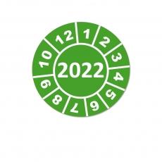 Jahresplaketten 2022 - 25mm Grün Rund