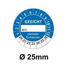 Plaketten GEEICHT 25mm blau