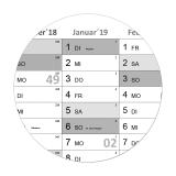 XXL Wandkalender-Grau 2022