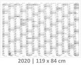 XXL Wandkalender-Grau 2020