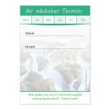 Terminblock-506  (1 Stück)  Grün  Wasserfall neutral