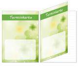 50 Termin Klappkarten-603 Grün Kleeblatt  bis 10 Termine