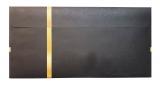 50 Briefumschläge 500 für Gutscheine mit Schlaufenmotiv Schwarz/Gold