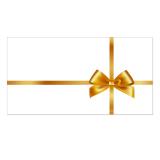 50 Briefumschläge 501 für Gutscheine mit Schlaufenmotiv Weiss/Gold