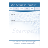 Terminblock (32 Stück) Blau Wintermotiv2 Neutral