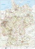 L Deutschlandkarte 42 x 60 cm GEFALTET auf A4