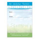Terminblock-505 (1 Stück)  Blau-Grün  Frühlingsmotiv neutral
