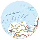 XL Deutschlandkarte 60 x 84 cm abwischbar