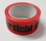 Paketklebeband Rot mit aufschrift Vorsicht-Glass