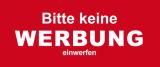 24 Aufkleber KEINE WERBUNG 68 x 21 mm für Briefkasten H