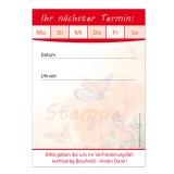 Terminblock (32 Stück) Rot Neutral Schmetterling-Motiv