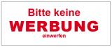 100 Aufkleber KEINE WERBUNG 45 x 20 mm für Briefkasten