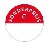 500 Etiketten SONDERPREIS Rot 45 mm