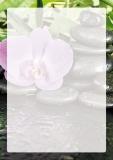 Designpapier-202 DIN-A4 (100 Blatt) Orchidee mit schwarzen Steinen