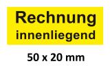 250 Aufkleber Rechnung-innenliegend gelb klein