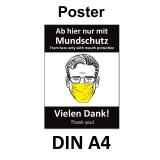 A4 Poster -  Mundschutz-Pflicht
