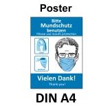 A3 Poster -  Mundschutz-Empfehlung