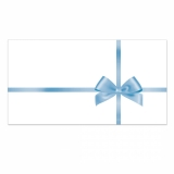 50 Briefumschläge-504 für Gutscheine mit Schlaufenmotiv Weiss/Blau