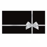 50 Briefumschläge-505 für Gutscheine mit Schlaufenmotiv Schwarz/Silbergrau