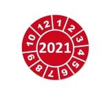 Jahresplaketten 2021 - 25mm Rot Rund