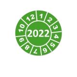 Jahresplaketten 2022 - 15 mm Grün Rund