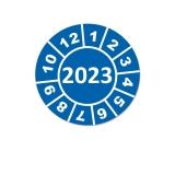Jahresplaketten 2023 - 25mm Blau Rund