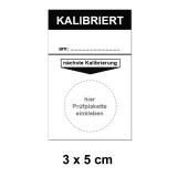 Grundplakette 30x50 - Kalibriert