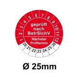 Plaketten BetrSichV 25mm