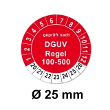 Plaketten DGUV Regel 100-500 25mm