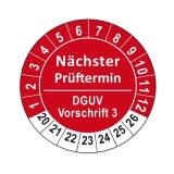 Plaketten DGUV Vorschrift 3 - rot 25mm