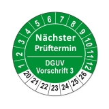 Plaketten DGUV Vorschrift 3 - grün 25mm