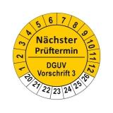Plaketten DGUV Vorschrift 3 - gelb 25mm