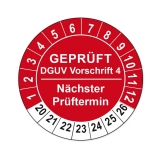 Plaketten DGUV Vorschrift 4 - rot 25mm