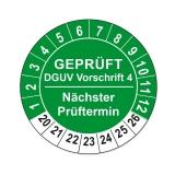 Plaketten DGUV Vorschrift 4 - grün 25mm