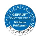 Plaketten DGUV Vorschrift 4 - blau 25mm