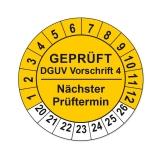 Plaketten DGUV Vorschrift 4 - gelb 25mm