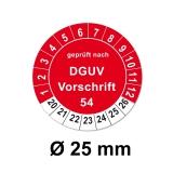Plaketten DGUV Vorschrift 54 - rot 25mm