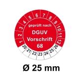 Plaketten DGUV Vorschrift 68 - rot 25mm