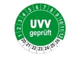 Plaketten UVV Geprüft - grün 25mm