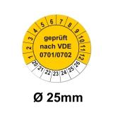 Plaketten VDE 100 - gelb 25mm