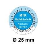 Plaketten MTK Medizintechnik - blau