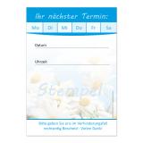 Terminblock-500 (1 Stück) Blau mit Frühlingsmotiv