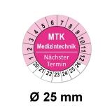 Plaketten MTK Medizintechnik - magenta