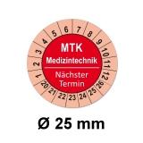 Plaketten MTK Medizintechnik - rot